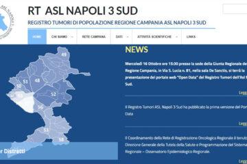 Registro Tumori Asl Napoli 3 Sud, ecco il portale Open data