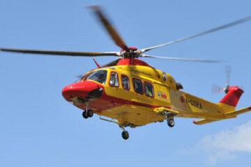 Bimba di 15 mesi salvata da un intervento straordinario dell'elicottero del 118.