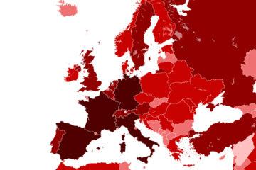Covid-19: virus SARS-Cov-2 più contagioso in Europa e nord America che in Asia