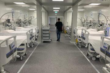 Coronavirus: si sono completati i lavori dell'Ospedale modulare Covid accanto all'Ospedale del Mare